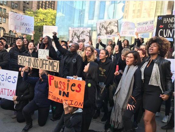 New York Mag: Dozens of Women Are Protesting Trump
