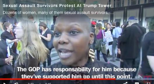 TIME Group Interview: Sex Assault Survivors Protest Trump
