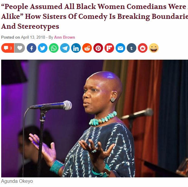 "Madame Noire: ""People Assumed All Black Women Comedians Were All Alike"" How Sisters Of Comedy Is Breaking Boundaries And Stereotypes"