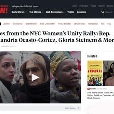 Democracy Now Interview: Womens Unity Rally