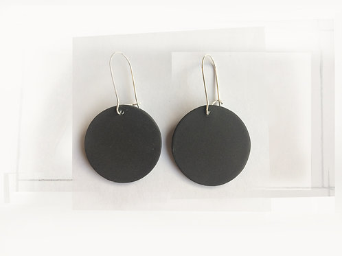 Nude black porcelain earrings
