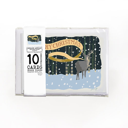 Stag Christmas Cards - Pack of 10