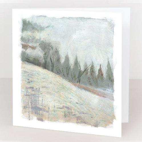 Card - Elms Farm. Fog