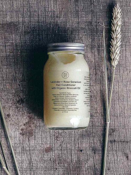 Lavender + Rose Geranium hair Conditioner with Organic Broccoli Oil