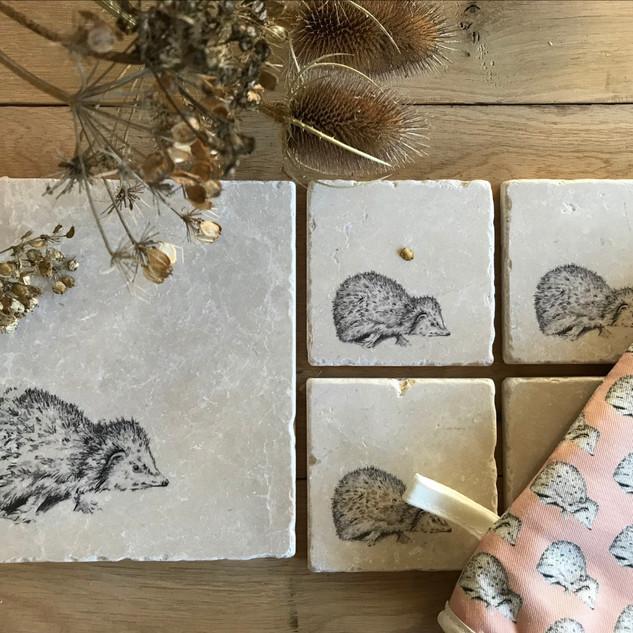 Hetty Hedgehog stone coaster