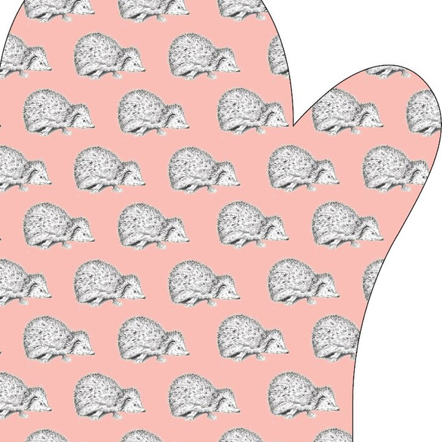 Hetty Hedgehog oven mitt