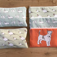 Cotton cosmetic bags