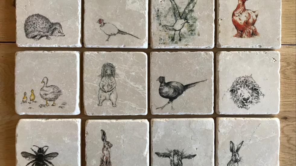 Natural stone handmade coasters