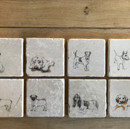 handmade natural stone coasters