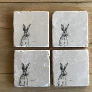 Horris hare stone coaster