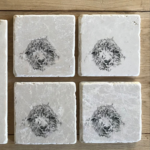 Sandra sheep stone coaster