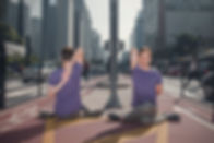 yoga na ciclofaixa