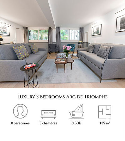 Livinparis-Luxury 3 Bedrooms-Arc de Trio