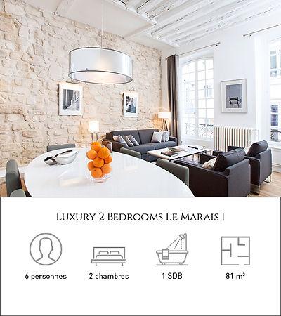 Livinparis-Luxury 2 Bedrooms Le Marais 1