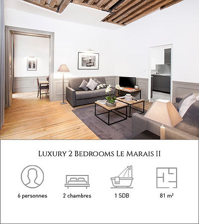 Livinparis-Luxury 2 Bedrooms-Le Marais I