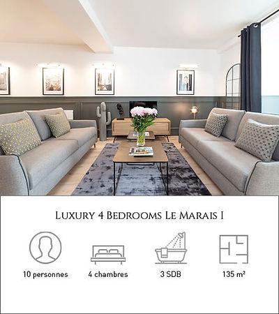 Livinparis-Luxury 4 Bedrooms-Le Marais I
