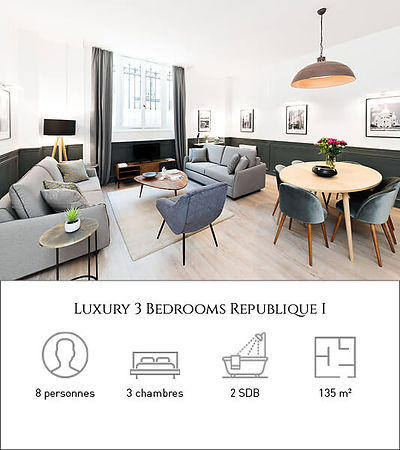 Livinparis-Luxury 3 Bedrooms-Republique