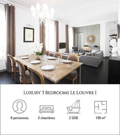 Livinparis-Luxury 3 Bedrooms-Le Louvre I