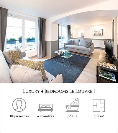 Livinparis-Luxury 4 Bedrooms-Le Louvre I