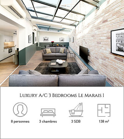 Livinparis-Luxury A-C 3 Bedrooms-Le Mara