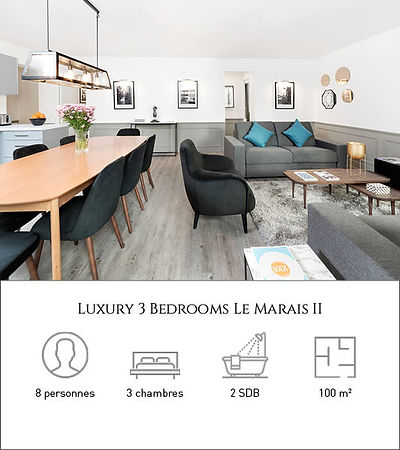 Livinparis-Luxury 3 Bedrooms-Le Marais I