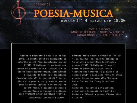 POESIA E MUSICA PER GIOVANI  SCRITTA, RECITATA E SUONATA DA GIOVANI