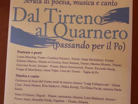 DAL TIRRENO AL QUARNERO poesia musica e canto alla COMUNITA' DEGLI ITALIANI DI FIUME