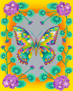 Lime Butterfly 16x20-web