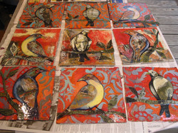 Bird Collages In Progress - 1