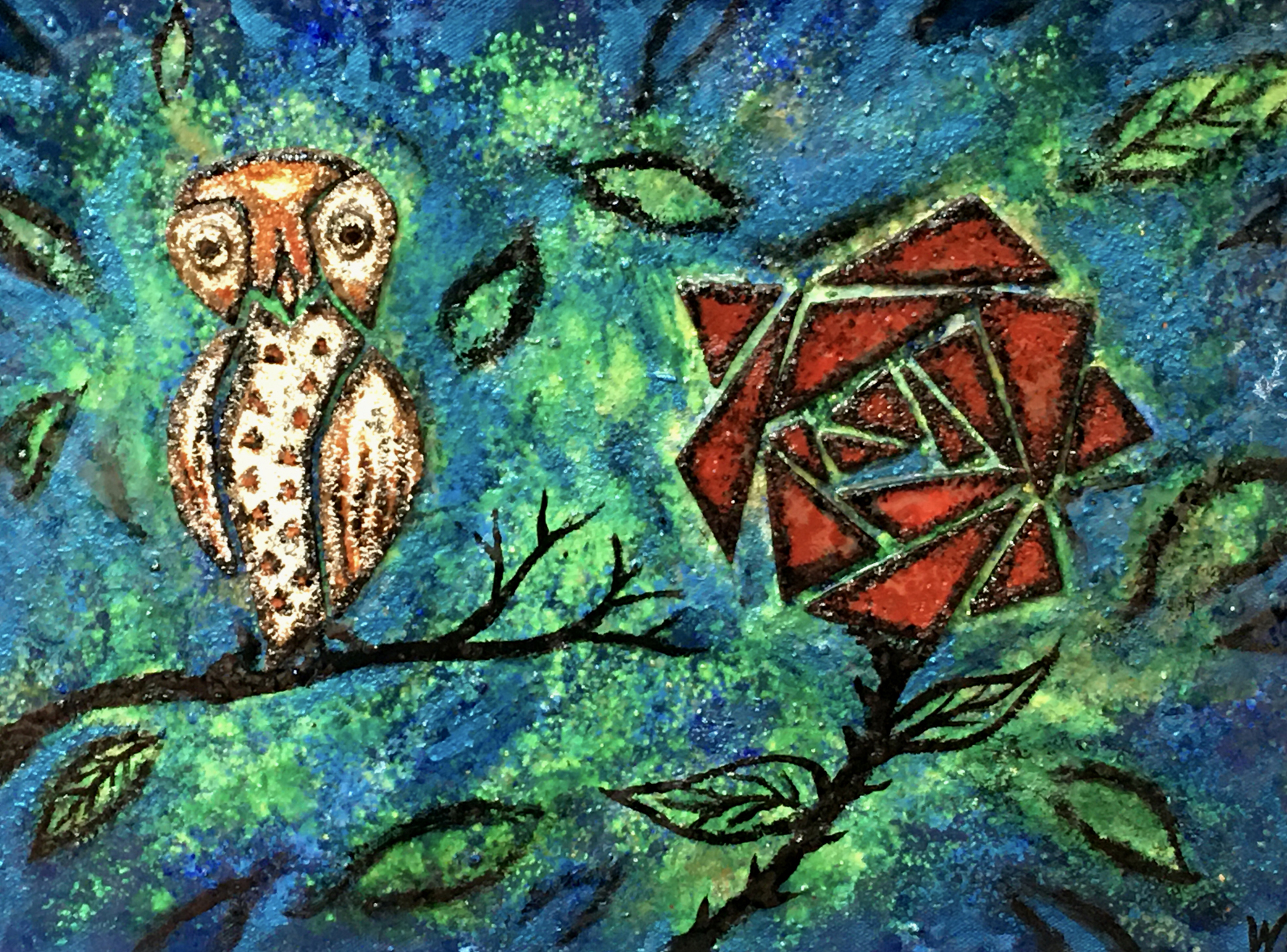 Pygmy Owl and The Rose