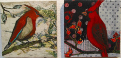 Red Bird Collage - 1