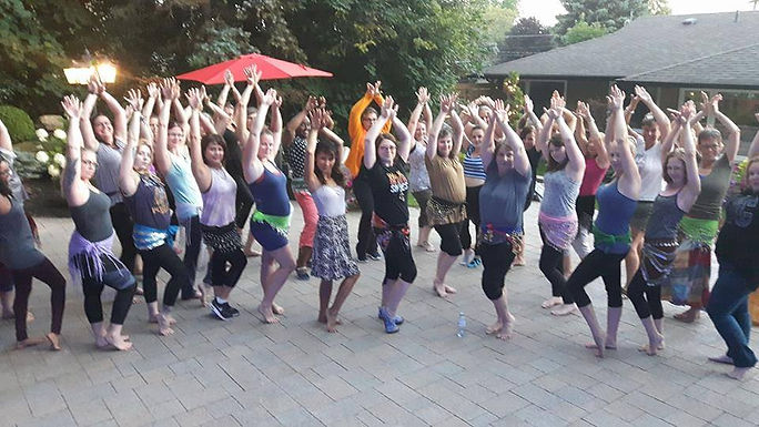 beginner belly dance class