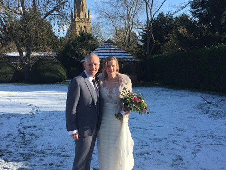 Winter wedding in the Cotswolds