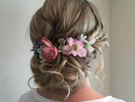 Accessories for wedding hair - fresh flowers