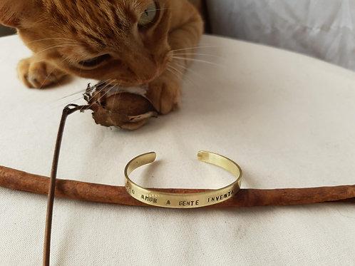 Bracelete Dourado Slim Personalizado