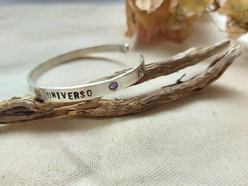 Bracelete de Prata Personalizado com Cristal