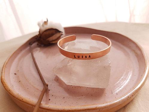 Bracelete Cobre Slim Personalizado