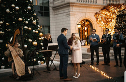 Adorable proposal at the Grand America Hotel