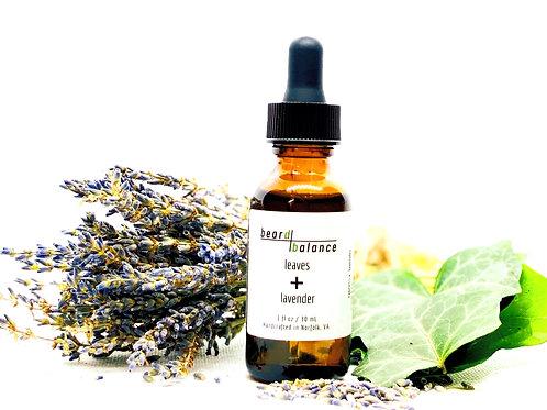 leaves + lavender beard oil