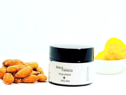 honey almond + ivory shea beard balm