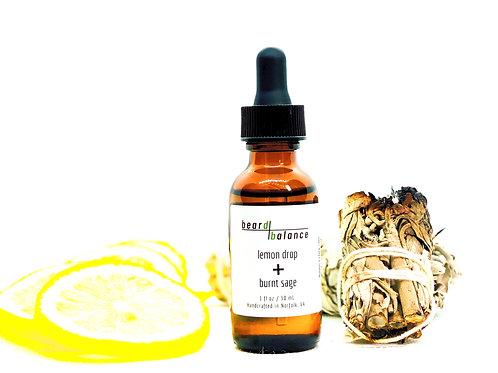 lemon drop + burnt sage beard oil