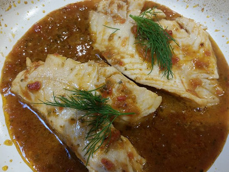 Wild Caught Rockfish with Tejas White Wine Sauce