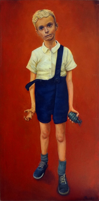 Boy With A Toy - A tribute to diane arbus