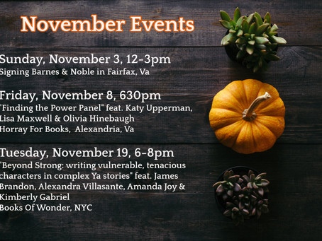 Come Find me in November!