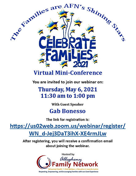 Virtual Conference flyer with zoom link