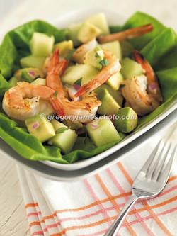 Grilled Shrimp And Melon Saled