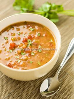 Lentil Cilantro Soup