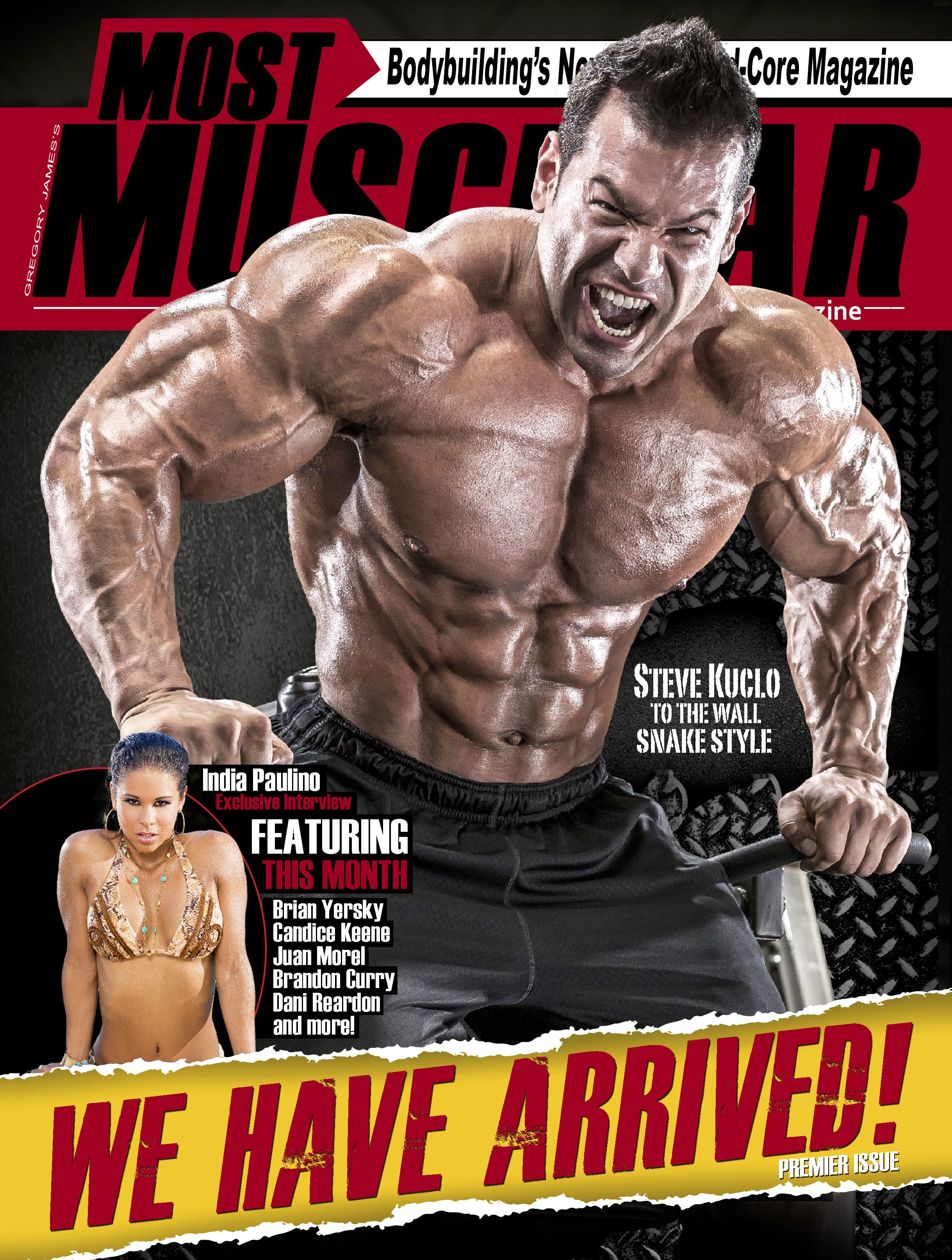 Most Muscular Magazine - PREMIER ISSUE Cover Gregory James