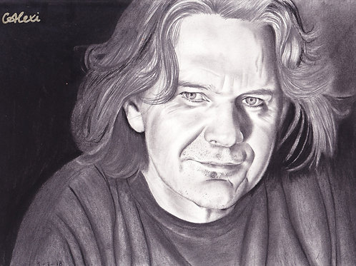Original Pencil Drawing of Musician Kevin Bennett