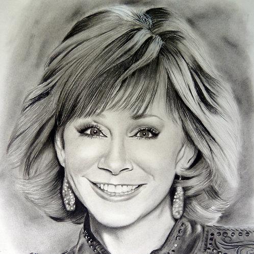 Original Drawing Of Reba McEntire by Chantell Alexi